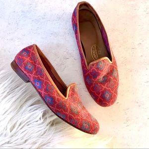 Stubbs & Wootton Needlepoint Diamond Weave Loafers